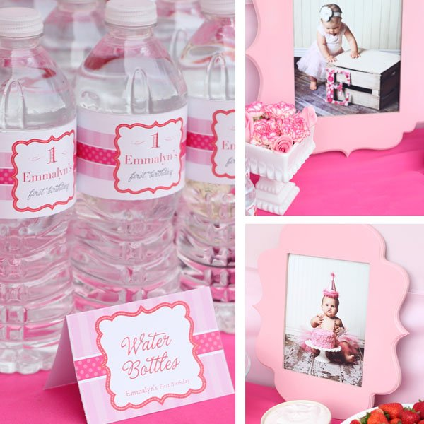 Water Bottles and Photo Decor