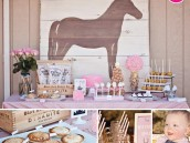 Rustic Chic Cowgirl First Birthday Party