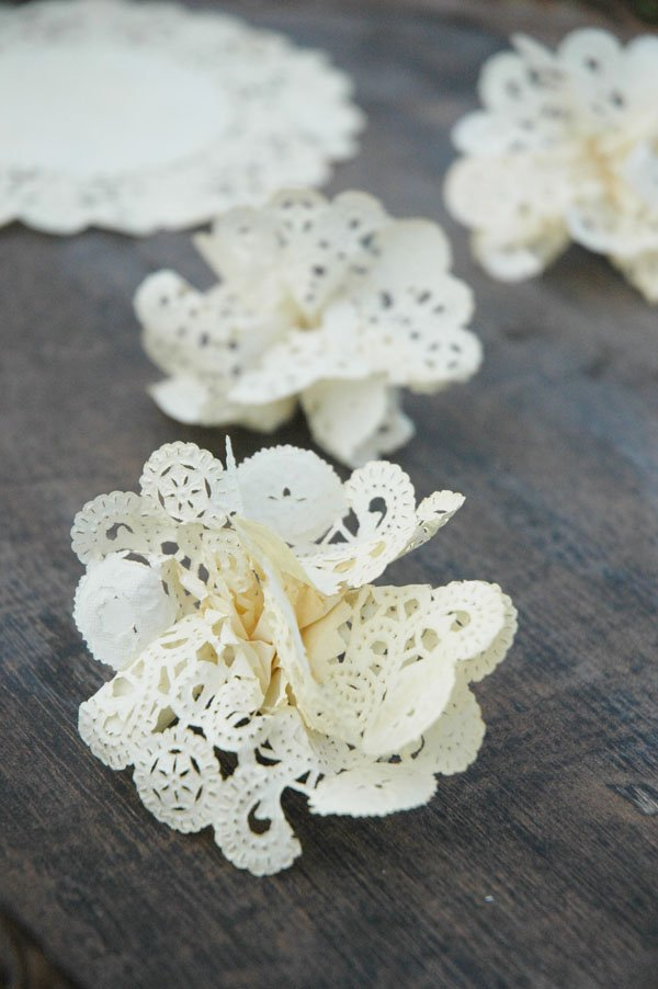 Tea-Stained Doily Flower