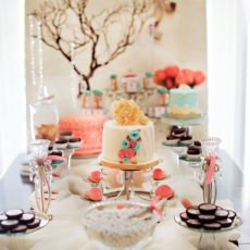 Pink Blue Vintage Baby Shower Brunch