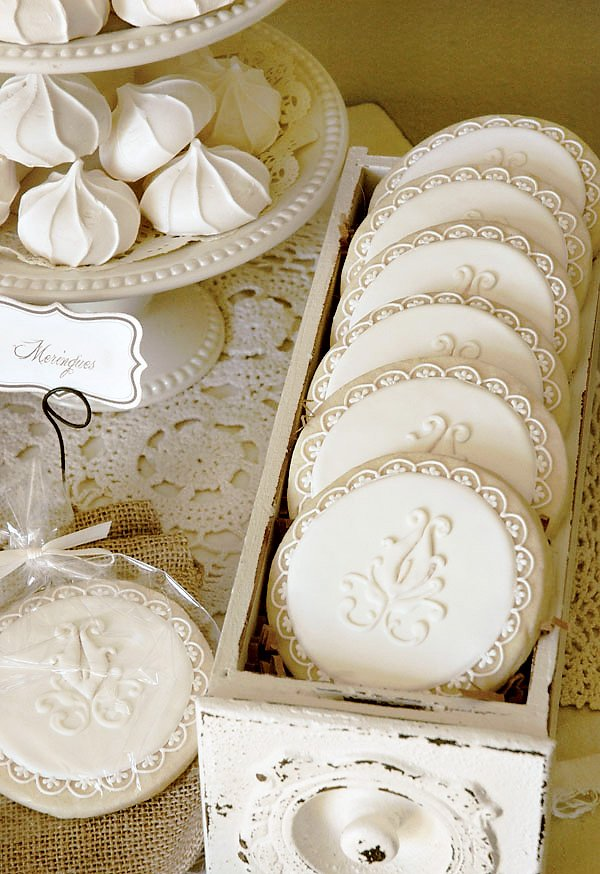 vintage rustic french sugar cookies