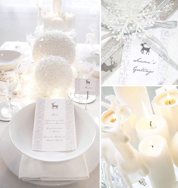 Elegant Winter Wonderland Holiday Tablescape
