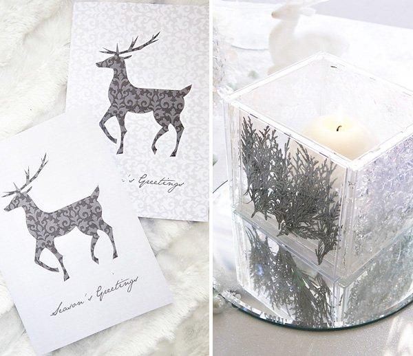 Elegant Winter Wonderland Holiday Tablescape