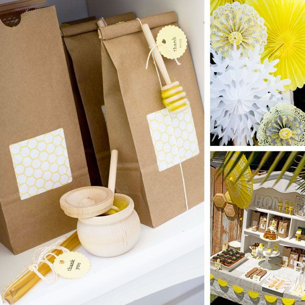 Favor Bags, Dessert Table and Paper Decor