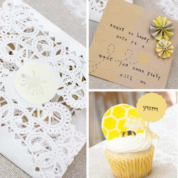 Party Invitation and Envelope - Party Cupcake