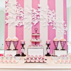 Parisian-Girls-Night-In-Dessert-Table