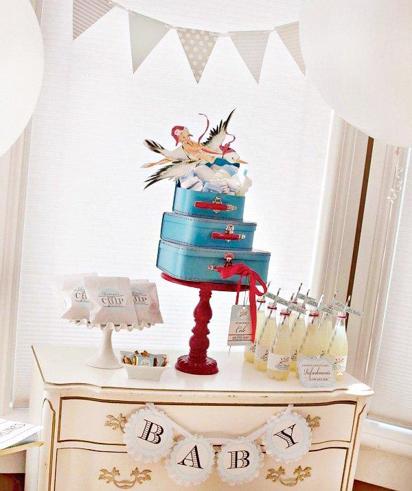 stork themed baby shower