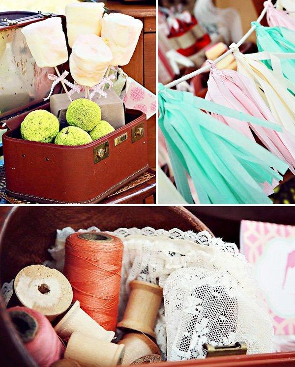 tissue party garland