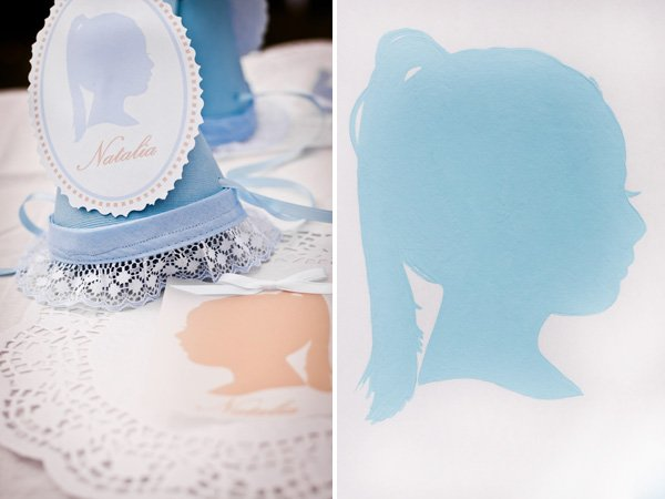vintage silhouette birthday party hats
