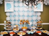 Vintage Silhouette Birthday Party Dessert Table