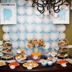 Vintage Silhouette Birthday Party Dessert Table