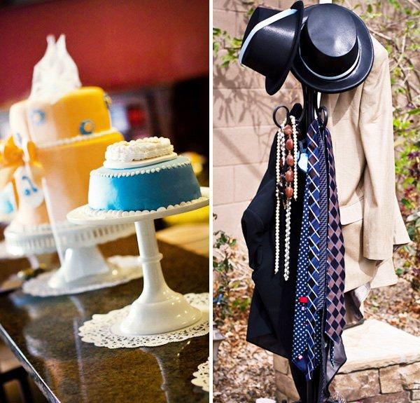 Vintage Silhouette Birthday Party cakes