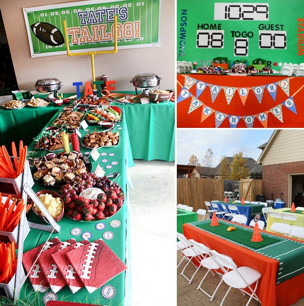football birthday party food