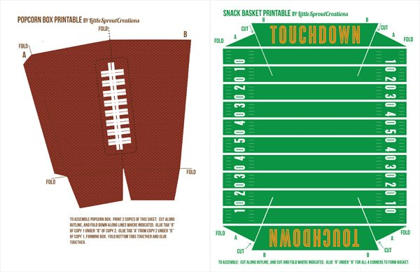 This is a graphic of Soft Free Football Printables