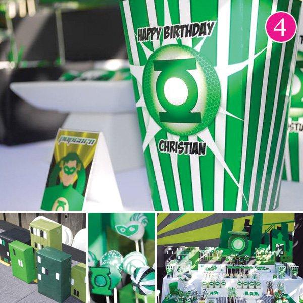 green lantern themed birthday party