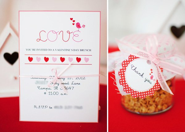 Love Birds Valentines Day Party invitations
