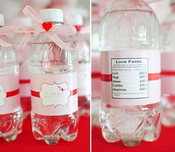 Valentine's Day Water Bottle Lables