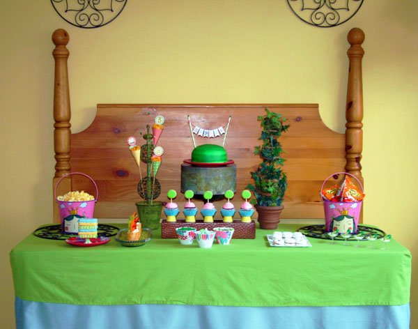 Princess and the Pea themed Dessert Table