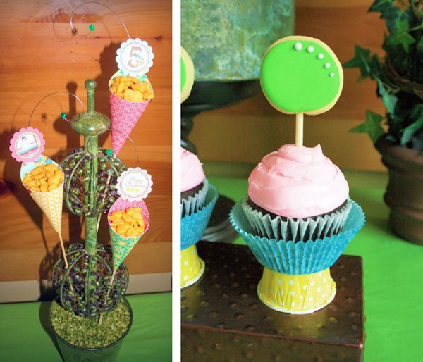 princess and the pea themed cupcakes