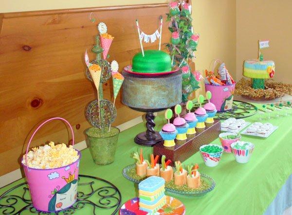 Princess and the Pea themed Food Table