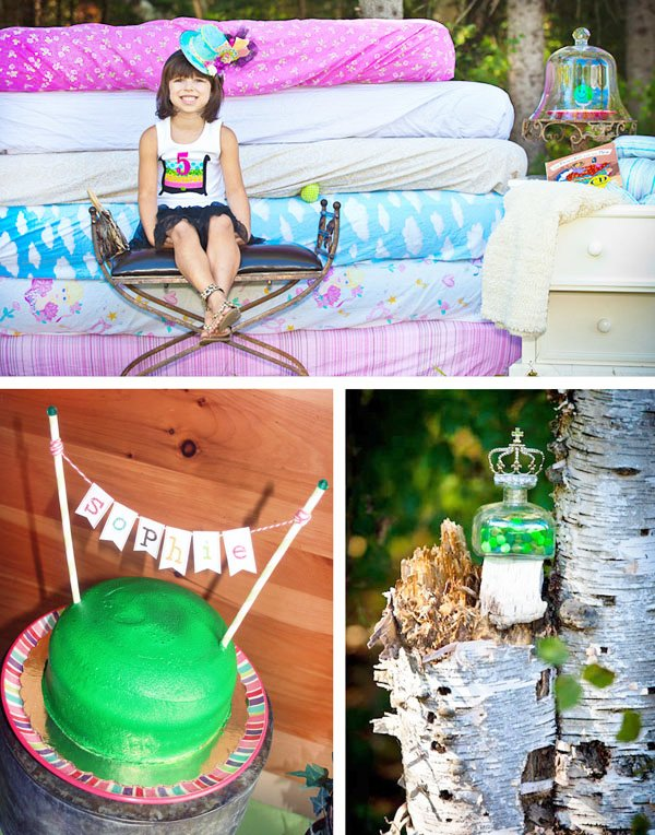 princess and the pea birthday party theme