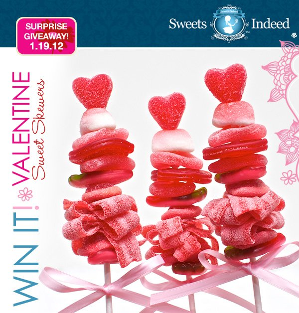 Sweets Indeed Valentine Candy Skewers