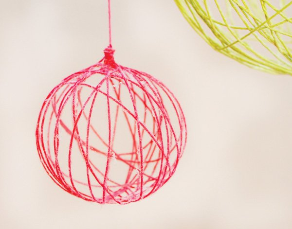 DIY Yarn Ball Chandelier Tutorial