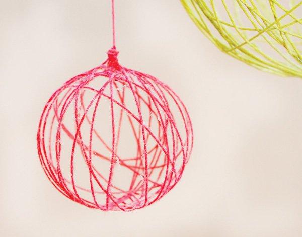 DIY Yarn Ball Chandelier Tutorial