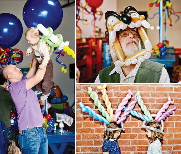 coles party train creative balloon station
