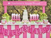Charlottes Apple Stand Dessert Table