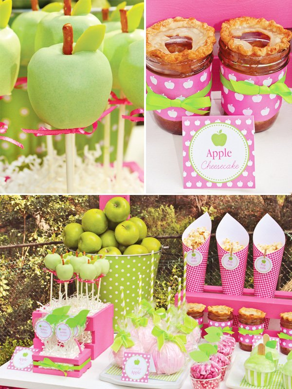 Apple of My Eye Party Dessert Table