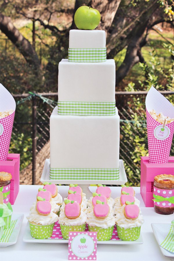 Apple of My Eye Party with Three Tier Cake