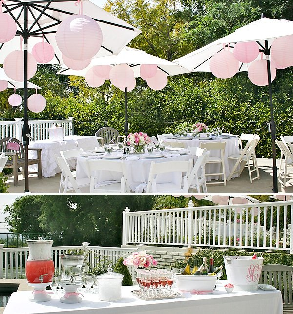 pink bridal shower table designs and decorations