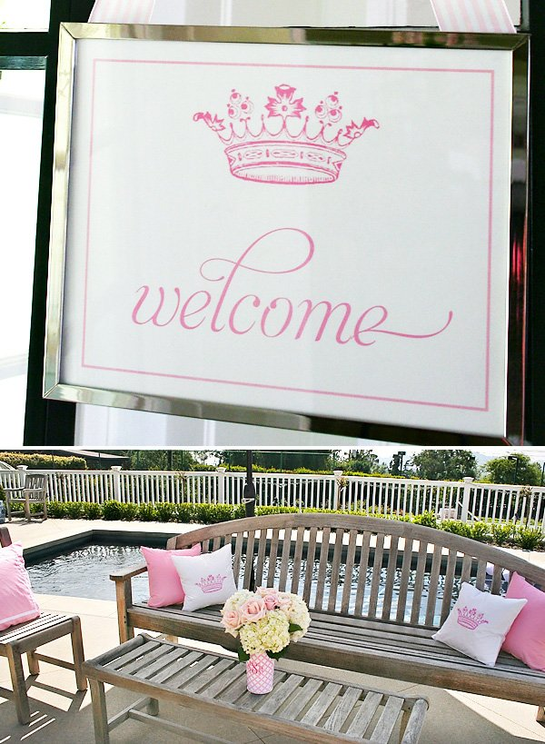 Pink Welcome Poster Princess Crown