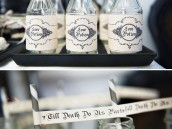 Love Potion Bottles for a Victorian Gothic Bridal Shower or Wedding