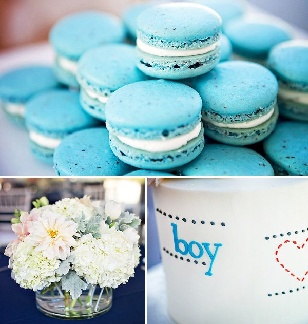Aqua Blue Macaroons - Baby Shower