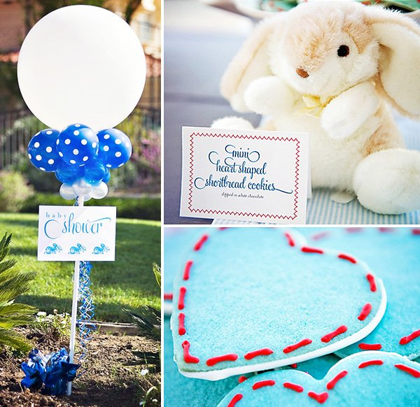 Peter Rabbit Baby Shower Heart Shaped Sugar Cookies