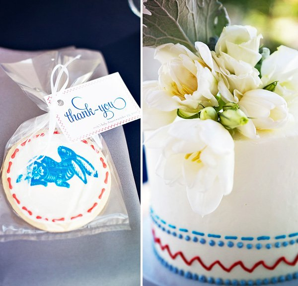 Peter Rabbit Baby Shower Sugar Cookie Party Favors and Cake