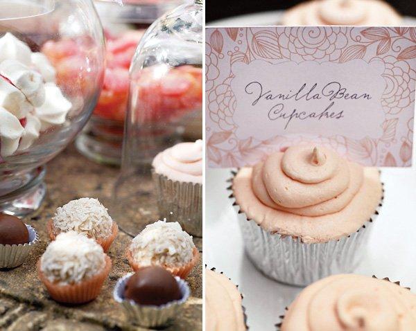 Peach and White Dessert Table