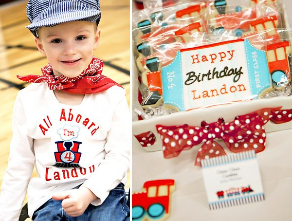 Train themed birthday party