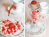 Bedazzled Bon Bons on Pastry Pedestal