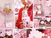 Kids Valentine's Day Party - Pink White Red