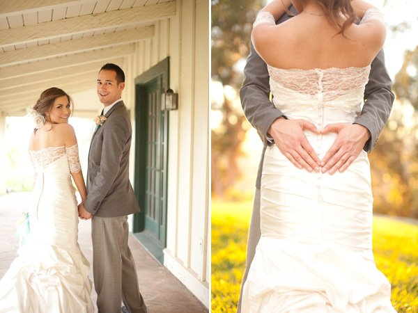 Modern Vintage Wedding Dress with Lace