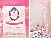 pink princess party invitations and party ideas