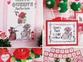 Queen of Hearts Birthday Party with Red Rose Cupcakes and Cake Pops