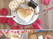 S'mores Milkshakes with Heart Shaped Marshmallows