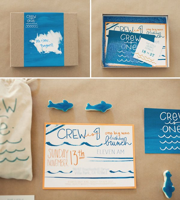 Ombre Surf Birthday Party - Boxed Invitations