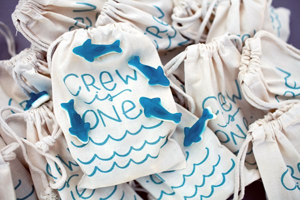 Surf Birthday Party Favors - Blue Shark Gummies
