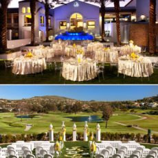 Modern Yellow and White Wedding at La Costa Resort