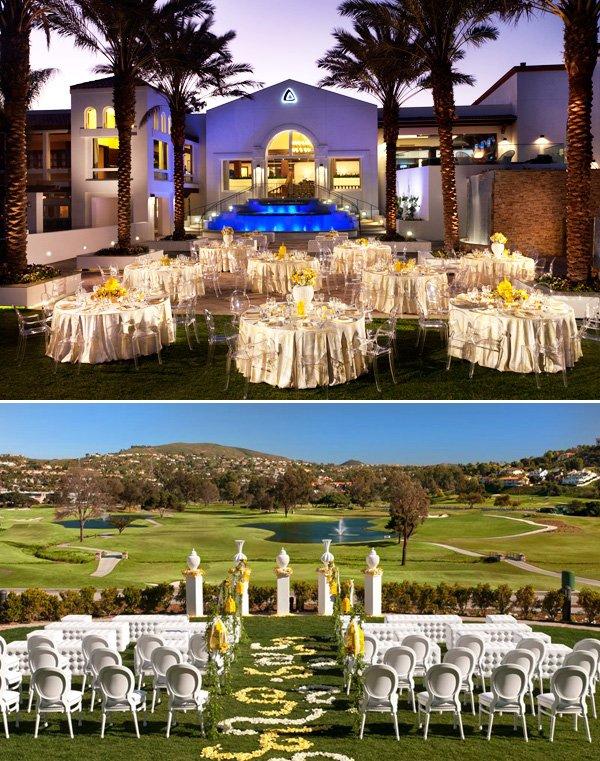 Modern Yellow and White Wedding at La Costa Resort